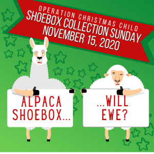 OCC Shoebox gifts due @ Charleston Baptist Church | Charleston | South Carolina | United States