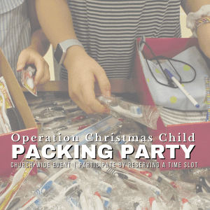 OCC Packing Party @ Charleston Baptist Church Gym | Charleston | South Carolina | United States